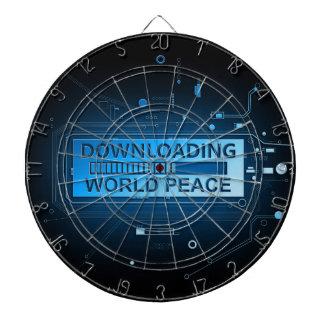 Downloading world peace. dartboard