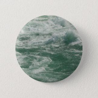 !downstream river 6 cm round badge