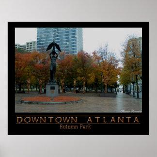 Downtown Atl - Autumn Park Posters