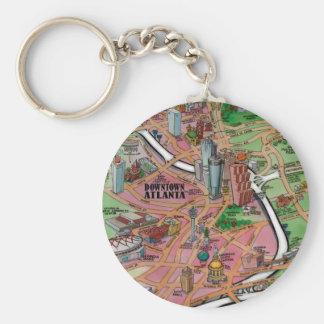 Downtown Atlanta Georgia Key Ring
