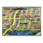 Downtown Austin Texas Cartoon Map Postcards