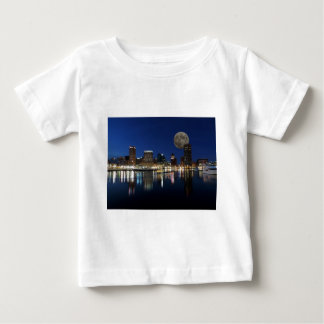 Downtown Baltimore Maryland Dusk Skyline Moon Tshirt