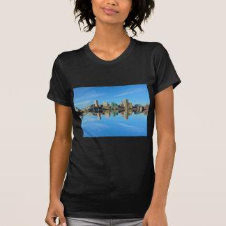 Downtown Baltimore Maryland Skyline Reflection Shirts