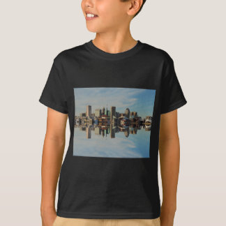 Downtown Baltimore Maryland Skyline Reflection Tees