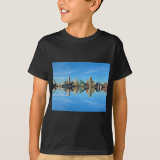 Downtown Baltimore Maryland Skyline Reflection Tshirt