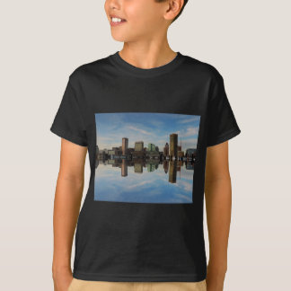 Downtown Baltimore Maryland Sunset Skyline Reflect T-Shirt