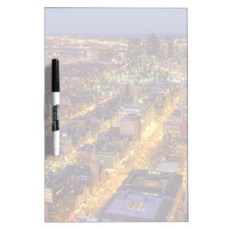 Downtown Boston and Hancock Tower Dry Erase White Board