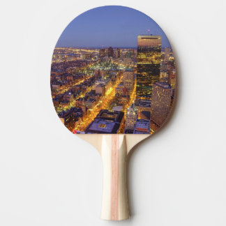 Downtown Boston and Hancock Tower Ping Pong Paddle