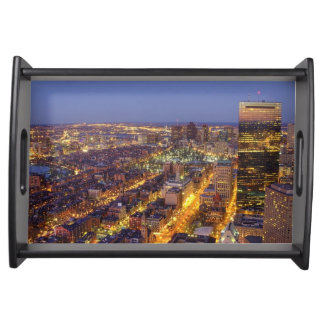 Downtown Boston and Hancock Tower Serving Tray