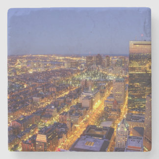 Downtown Boston and Hancock Tower Stone Coaster