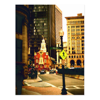 Downtown Boston on Kilby Street Postcard