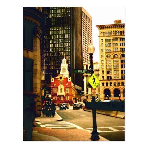 Downtown Boston on Kilby Street Post Card
