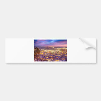 Downtown Boulder Colorado City Lights Sunrise Bumper Sticker