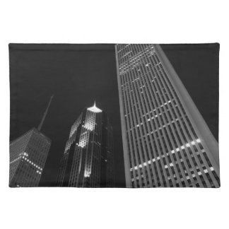 Downtown Chicago at Night Placemat