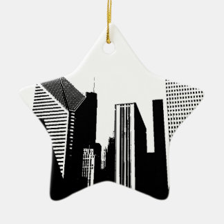 Downtown Chicago Christmas Ornament