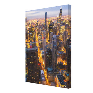 Downtown Chicago skyline at dusk Canvas Print