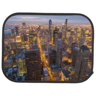 Downtown Chicago skyline at dusk Car Mat