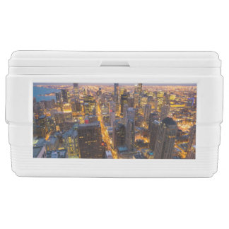 Downtown Chicago skyline at dusk Chest Cooler