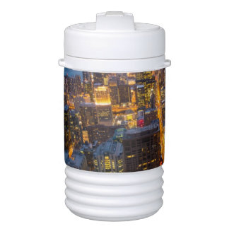 Downtown Chicago skyline at dusk Drinks Cooler