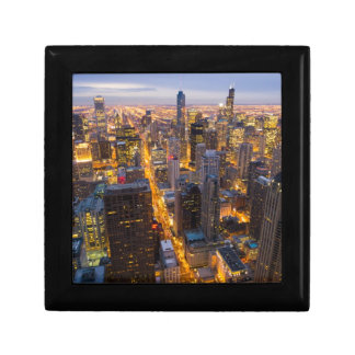 Downtown Chicago skyline at dusk Gift Box