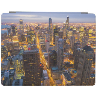 Downtown Chicago skyline at dusk iPad Cover