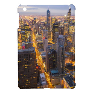Downtown Chicago skyline at dusk iPad Mini Cases