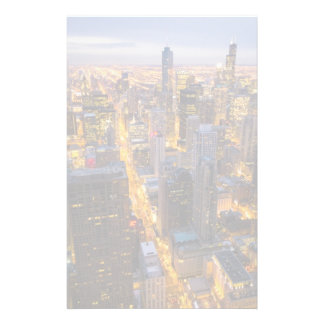 Downtown Chicago skyline at dusk Stationery