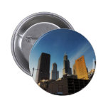 Downtown Chicago Skyscrapers Button