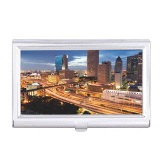 Downtown City View Business Card Holder