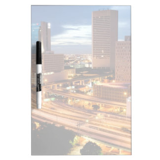 Downtown City View Dry-Erase Whiteboard