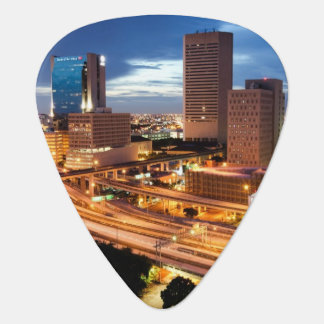 Downtown City View Guitar Pick