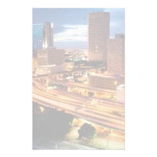 Downtown City View Personalized Stationery