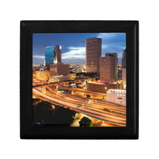 Downtown City View Small Square Gift Box