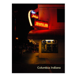 Downtown Columbus Indiana postcard