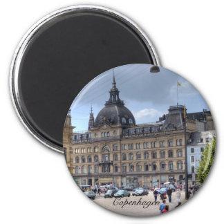 Downtown Copenhagen 6 Cm Round Magnet