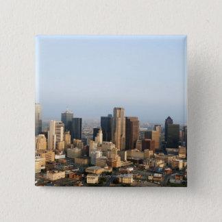 Downtown Dallas 15 Cm Square Badge