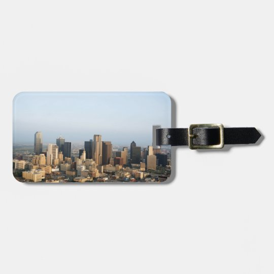 Downtown Dallas Luggage Tag