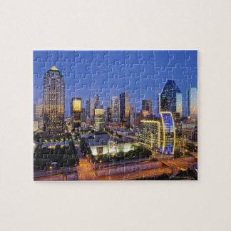 downtown dallas skyline jigsaw puzzle