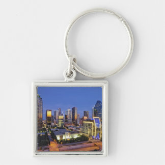 downtown dallas skyline key ring
