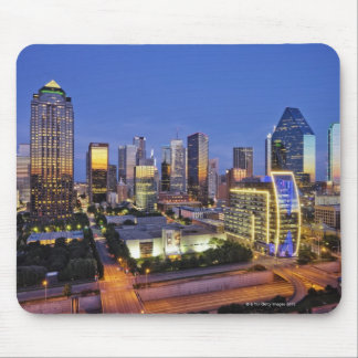 downtown dallas skyline mouse pads