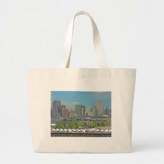 Downtown Denver Colorado City Skyline Jumbo Tote Bag