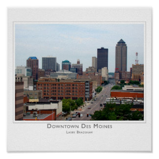 Downtown Des Moines Poster