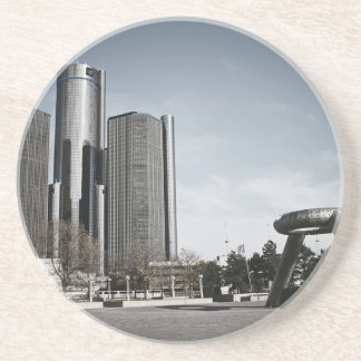Downtown Detroit Sandstone Coaster