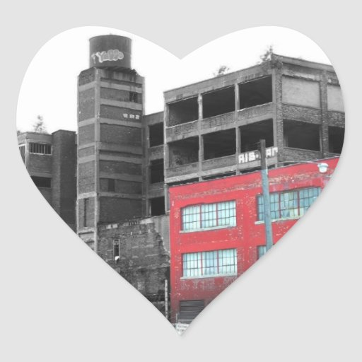 Downtown Detroit Heart Sticker
