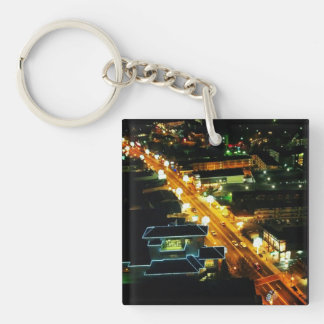 Downtown Gatlinburg Single-Sided Square Acrylic Keychain