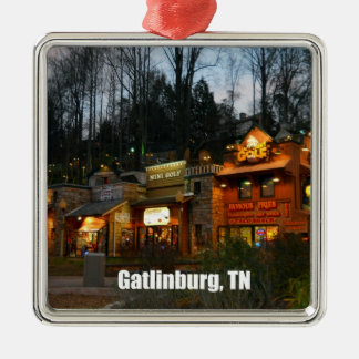 Downtown Gatlinburg, Tennessee Christmas Ornament