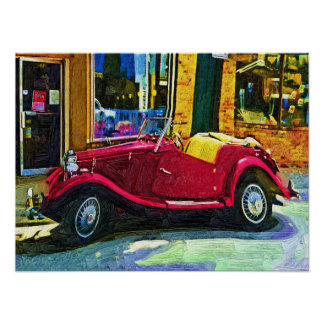 Downtown Girl - Antique Classic Car Poster