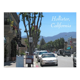 Downtown Hollister Postcard