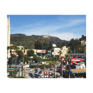 Downtown Hollywood Canvas Print
