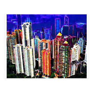 Downtown Hong Kong: China: Postcard
